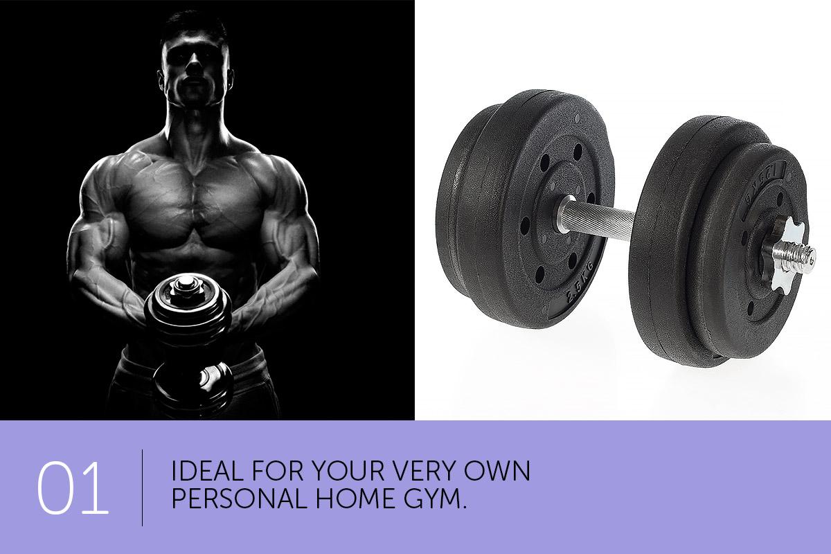 Kg dumbbell set home gym fitness exercise equipment free
