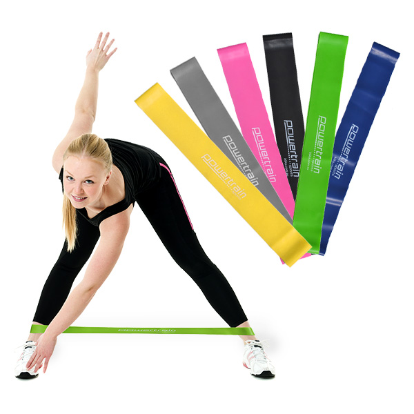 YOGA RESISTANCE BAND LOOP PILATES STRAP HOME GYM FITNESS