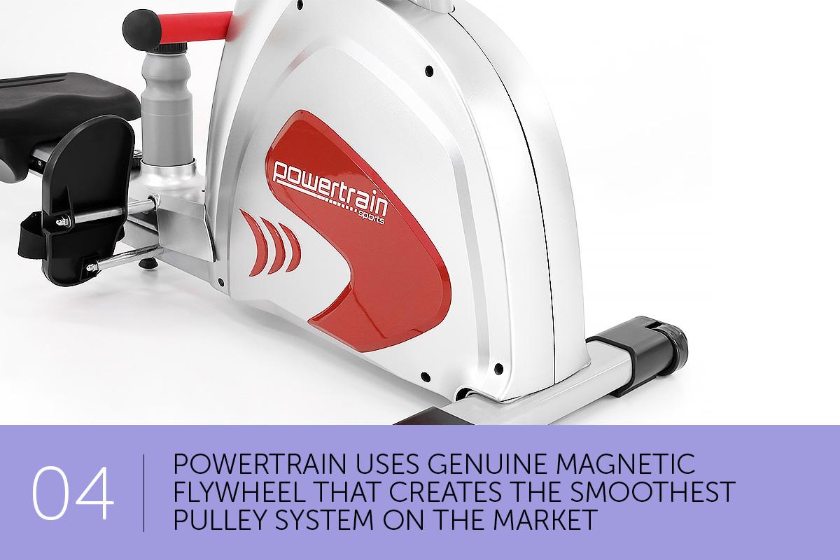 magnetic flywheel rowing machine